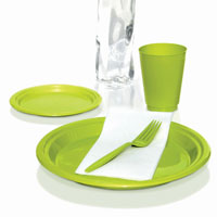 Preserve 100% recycled tableware