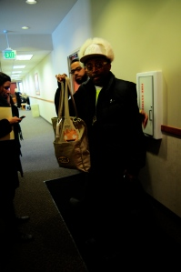 Spike Lee at Sundance Film Festival Holding An Eco-Friendly Gift Bag