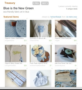 Etsy Organic Team Treasury