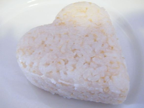 heart-shaped onigiri