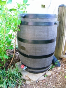 55-gallon rain barrel