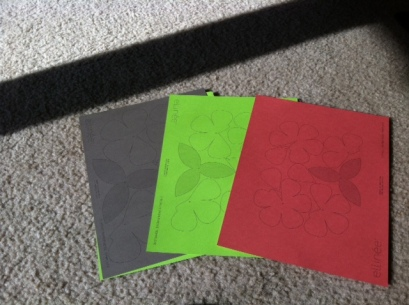Printed patterns on colored cardstock