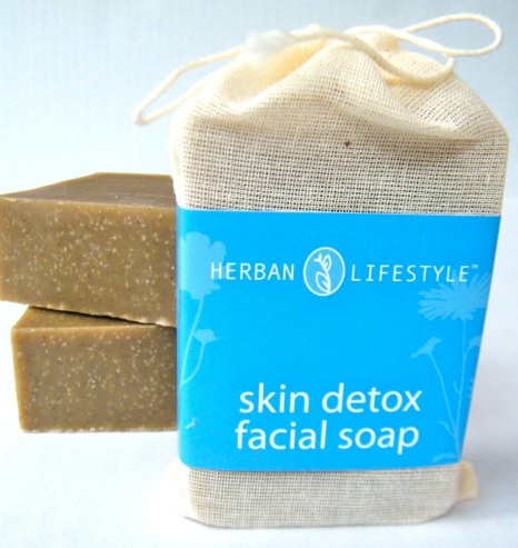 Skin Detox unscented soap made with organic oils and cosmetic clay
