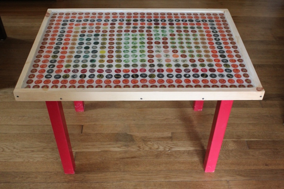 How to Make an Upcycled Bottle Cap Table!