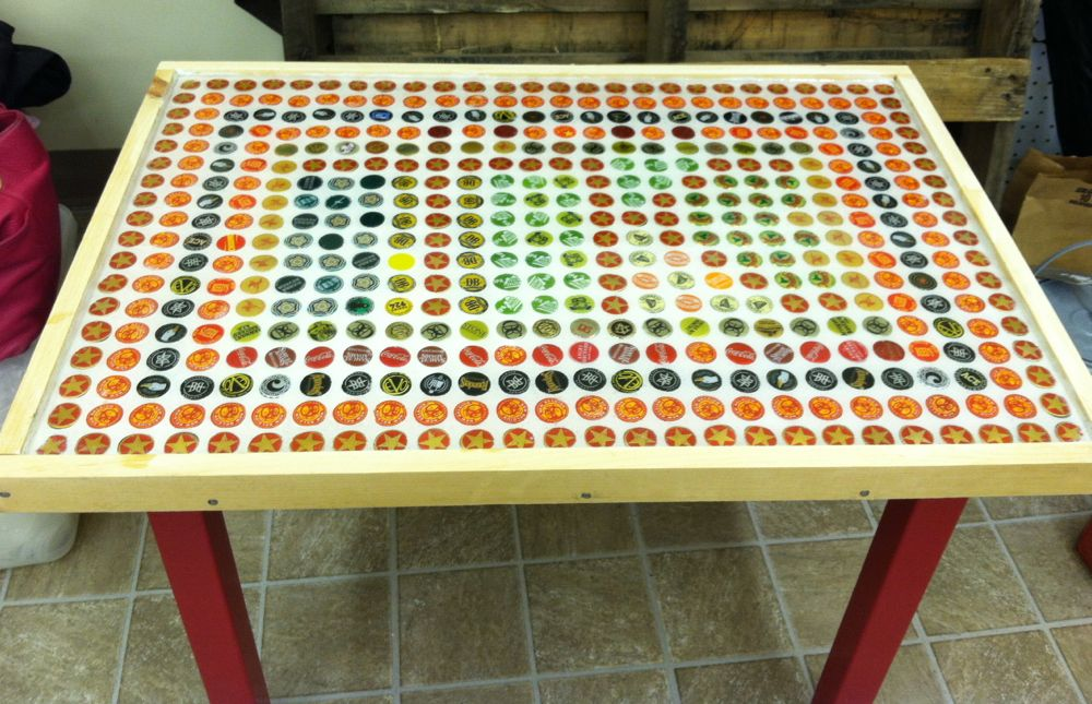 how to build a bottle cap table